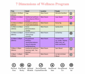 september HIW timetable